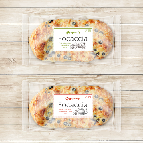 Label design for Foccia