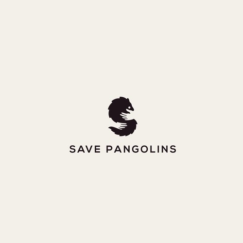 I made this logo with the original combine hands,pangolins and letter S for logo SAVE PANGOLINS