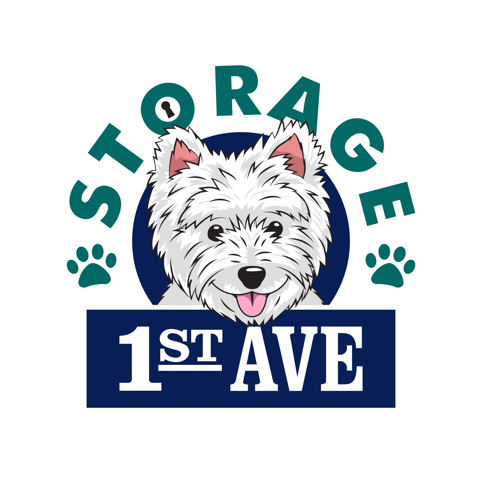 WESTY PUP Logo for locally owned and operated Self Storage Facility