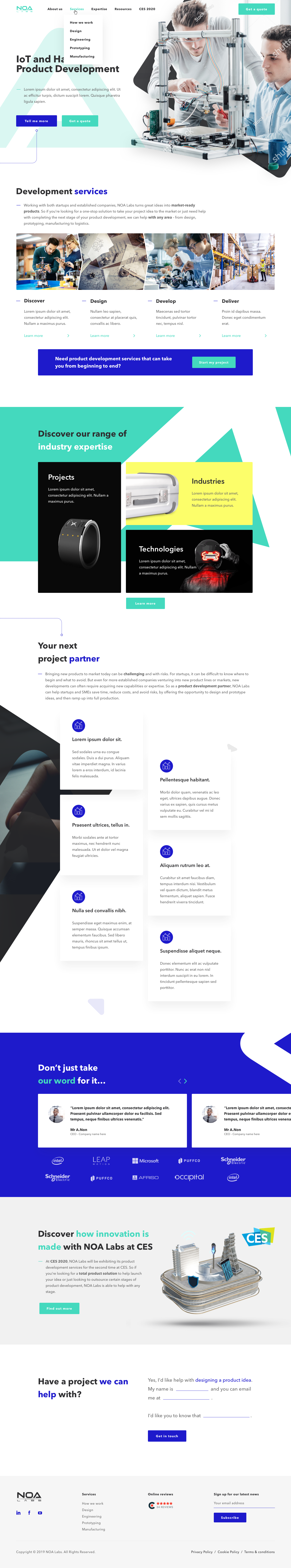 Give a New Fresh Design to NOA Labs' Homepage