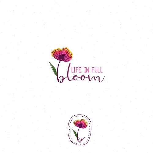 logo for life in full bloom