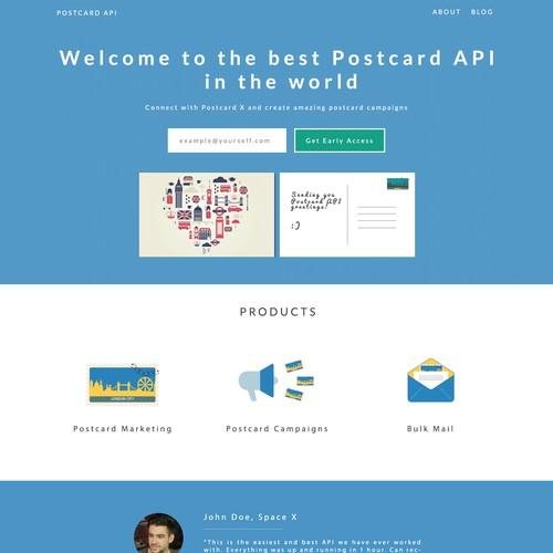 Create an amazing Landingpage - Postcard API for Marketing Experts