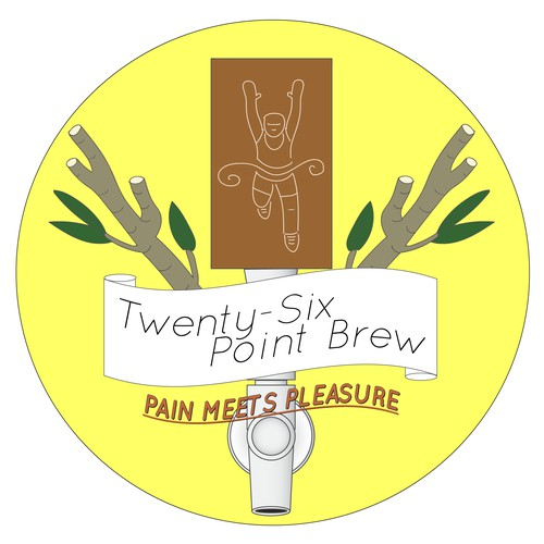 running shop/brewery logo