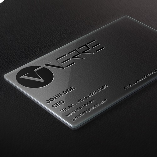 Verre Business Card Design