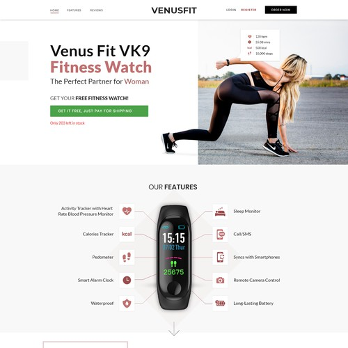 Landing Page for VenusFit