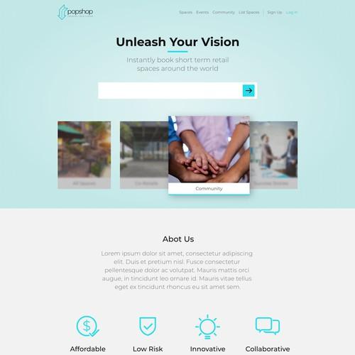 Popshop Website Redesign