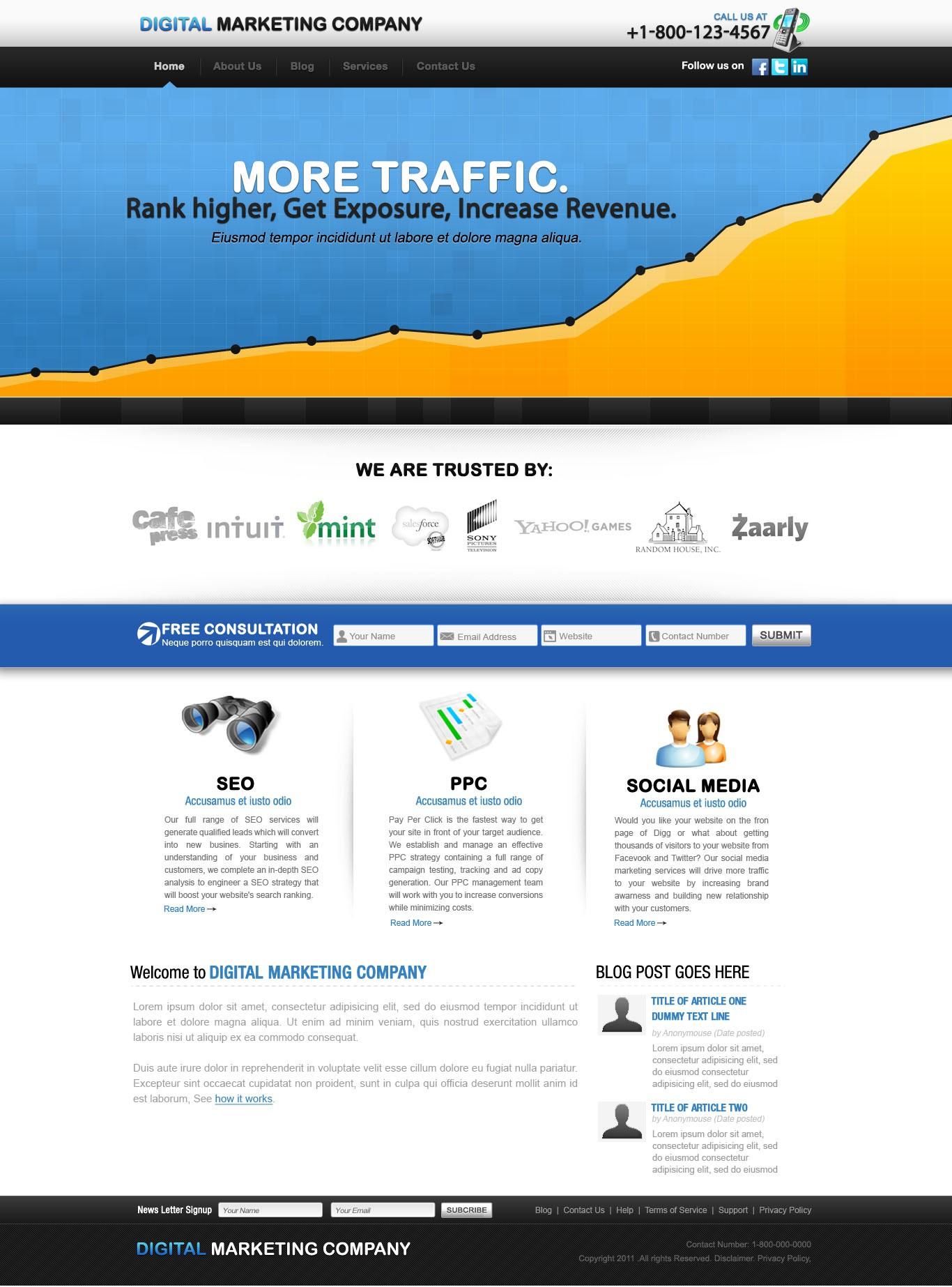 Marketing/SEO Company needs a SICK new website design!
