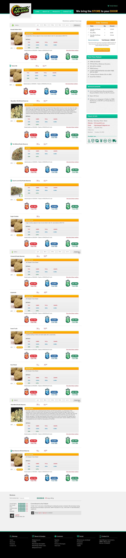 High Mileage Online MMJ Delivery Webpage