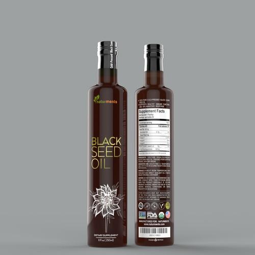 Design a Luxurious Natural supplement label