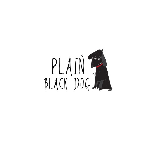 Plain black dog