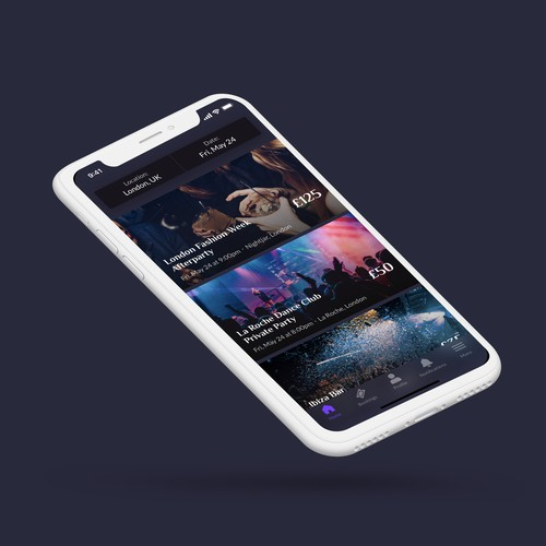 Exclusive Event App Design