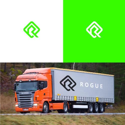 R diagonal logo
