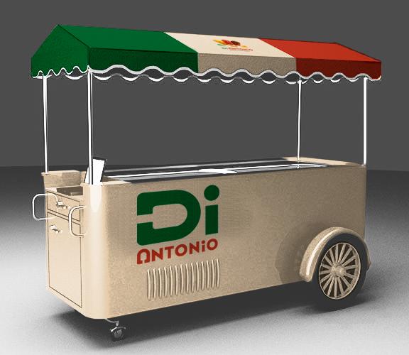 I need a design to customize ice cream cars with logo Di Antonio Gourmet