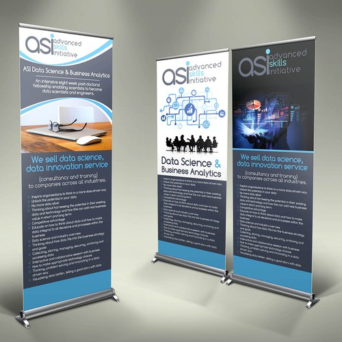 Create a roller banner design for ASI's data innovation lab