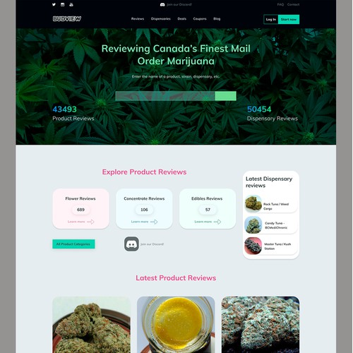 Design a Marijuana & Dispensary Review Site