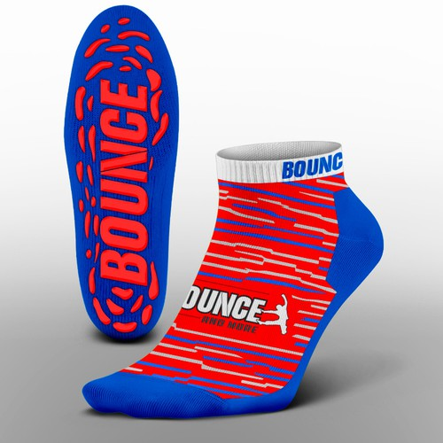 Funky trampoline park grip socks