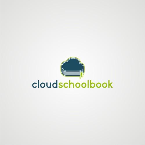 Simple modern design logo for CloudSchoolBook