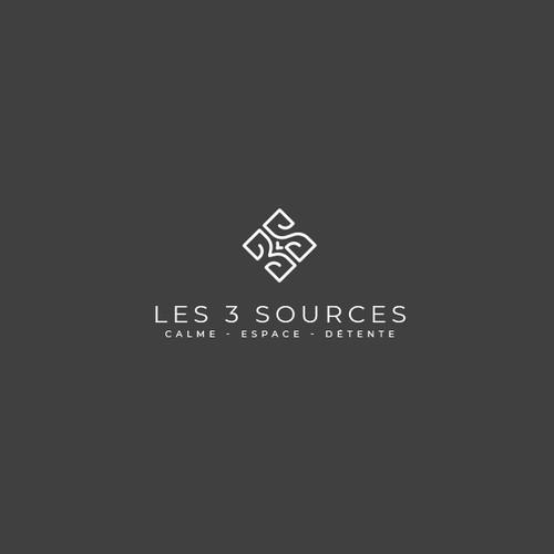 Concept de logo raffiné pour une maison de charme