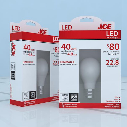 bulb led packaging design