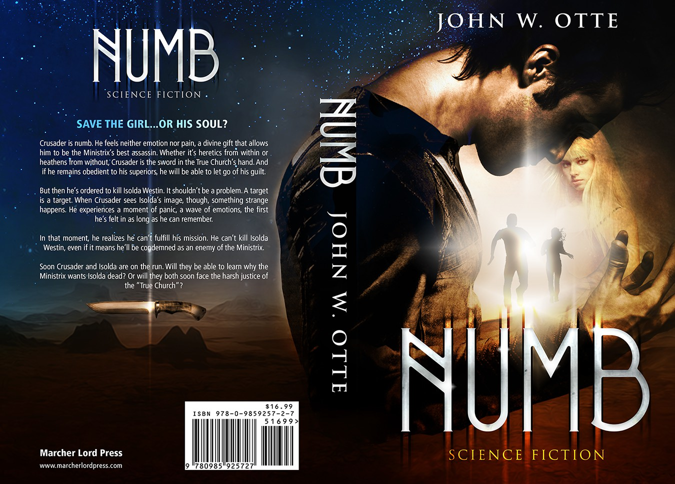 Numb, an explosive science fiction thriller, needs your most creative cover