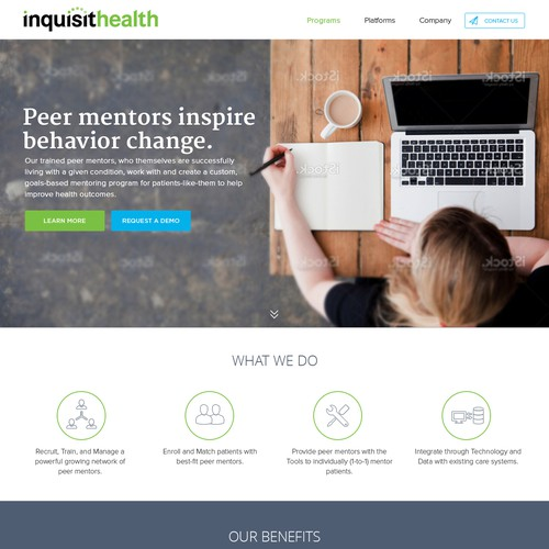 Redesign corporate website of a healthcare tech startup