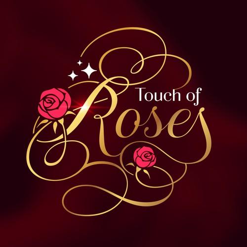 Logo for a rose (flower) arrangement company