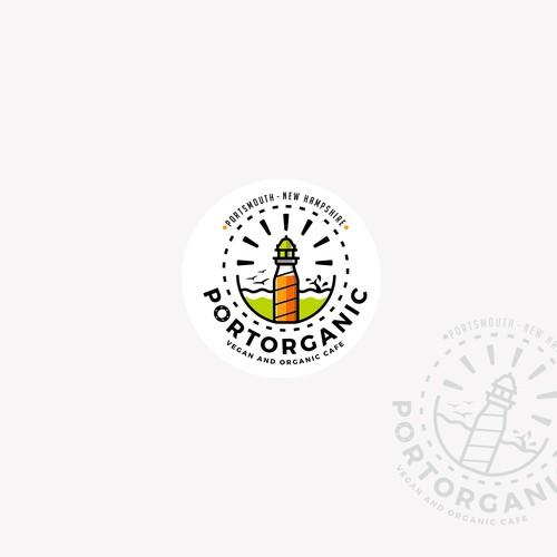 Hipster Organic and Vegan Cafe Logo