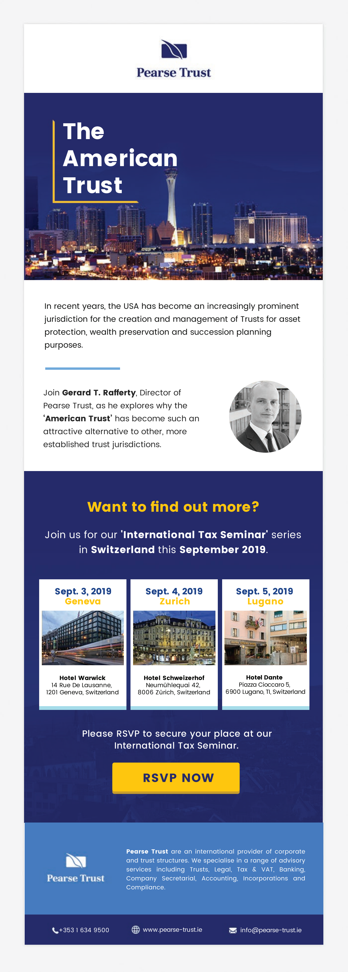 Two Emails for Seminar Event