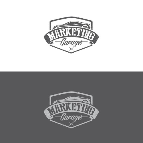 Create an edgy and retro logo for Marketing Garage