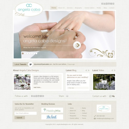 Create the next website design for Angela Caba Designs