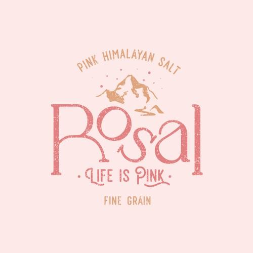 Logo Design for Rosal, Pink Himalaya Salt