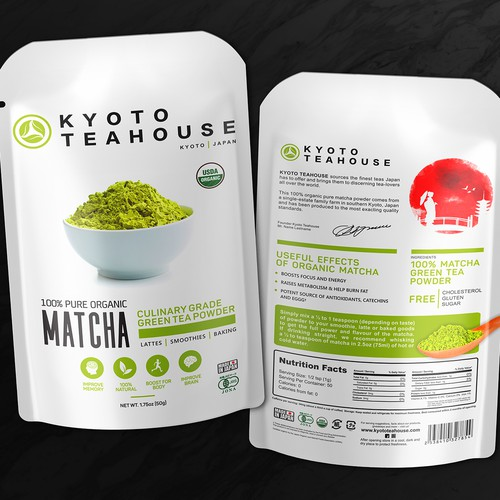 Packing 100% Organic Matcha - Kyoto Teahouse (Japan)
