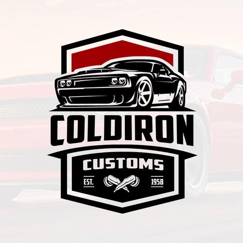 Bold Logo for Coldiron Customs