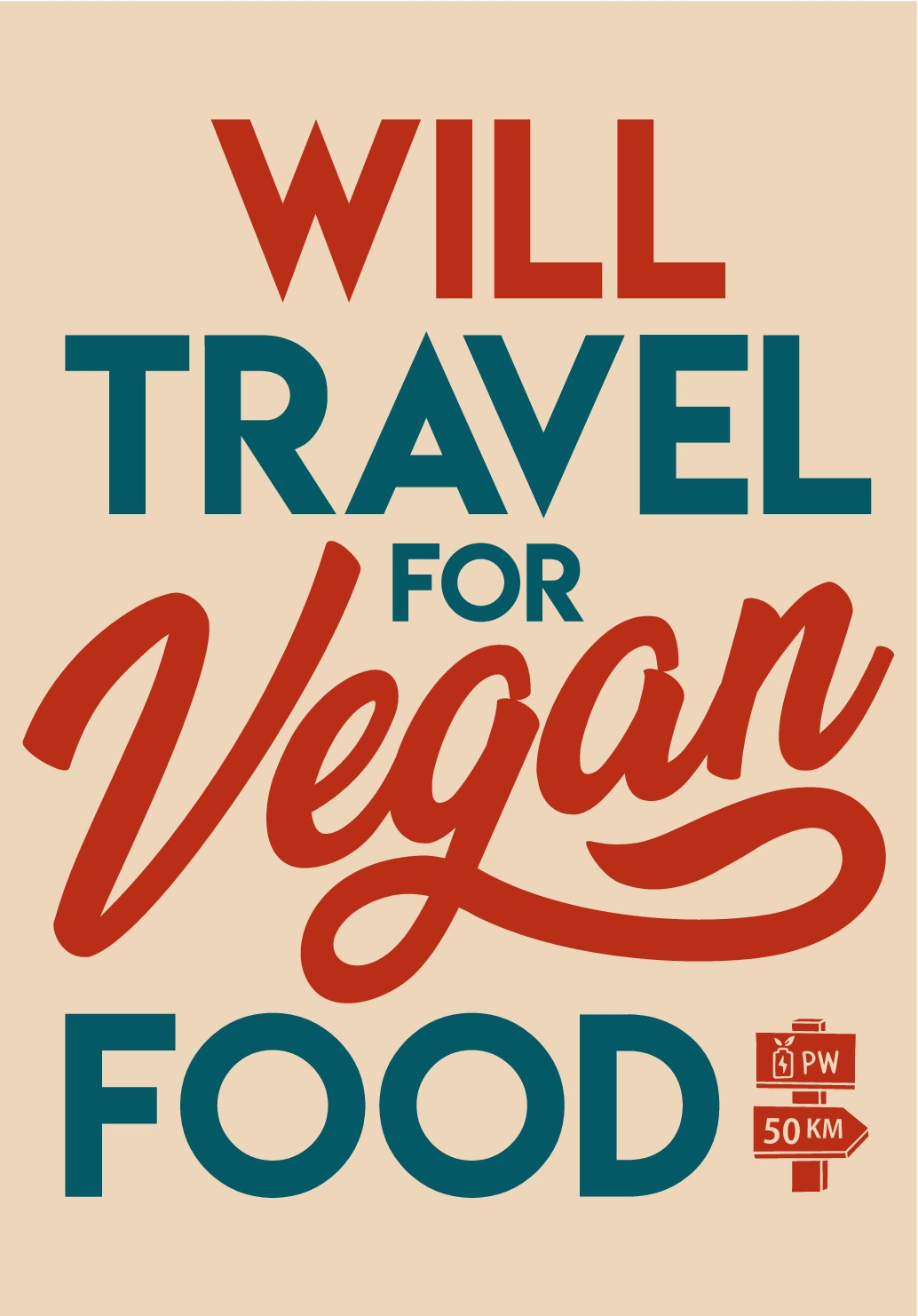 T-Shirt Design for Vegan Food Brand