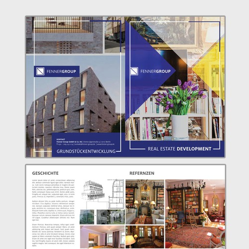 Bold Layout for a brochure