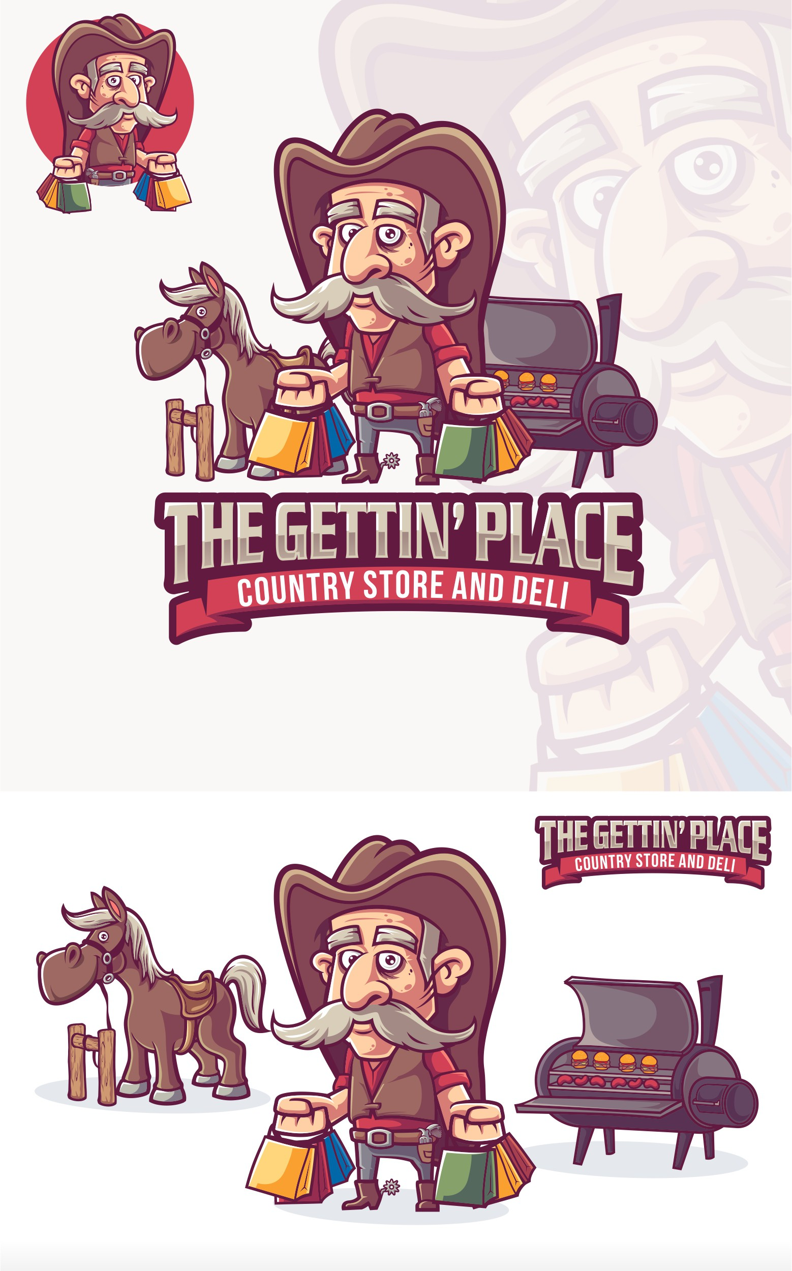 Cowboy groceries logo