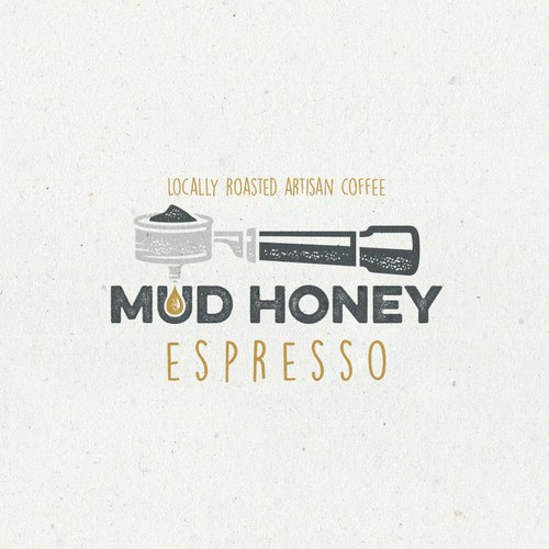 Logo proposal for a Mud Honey coffee co.