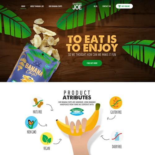 Homepage redesign for BananaJoe