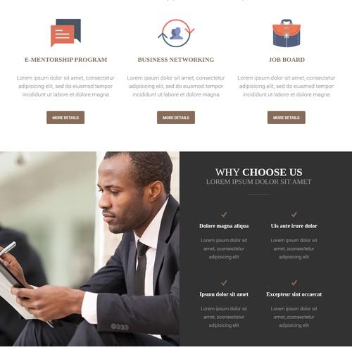 Black Mentors United webdesign