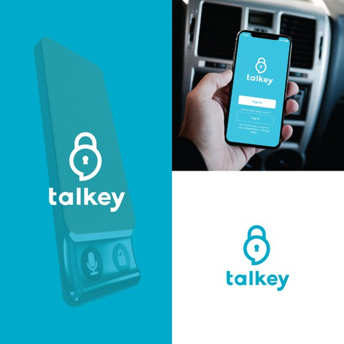 Logo for talkey