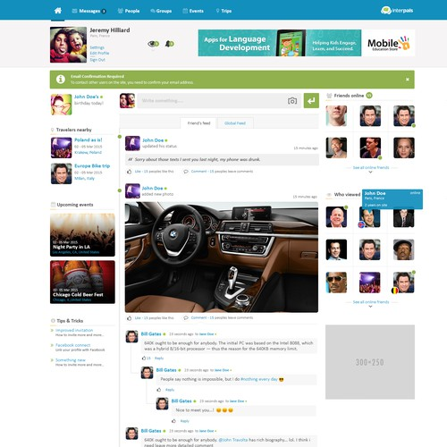 UI for Social Network