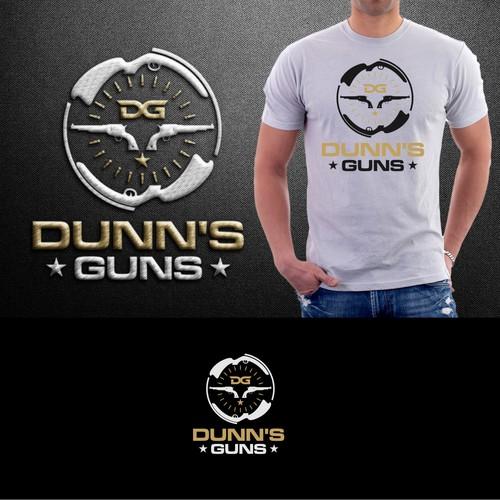 Create a simple logo for Dunn's Guns