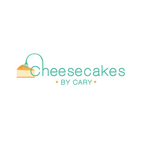 Cheesecake Logo Design in Teal