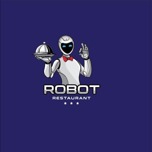 Mascot logo For Robot Restaurant