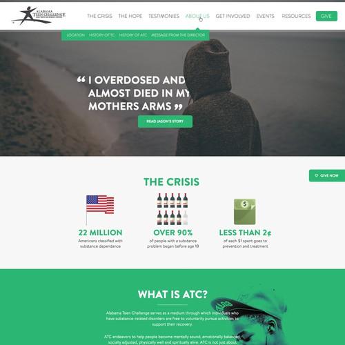 Clean, modern design for a charitable organisation