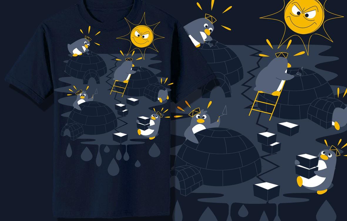 "Design a ""Penguins life"" inspired t-shirt"