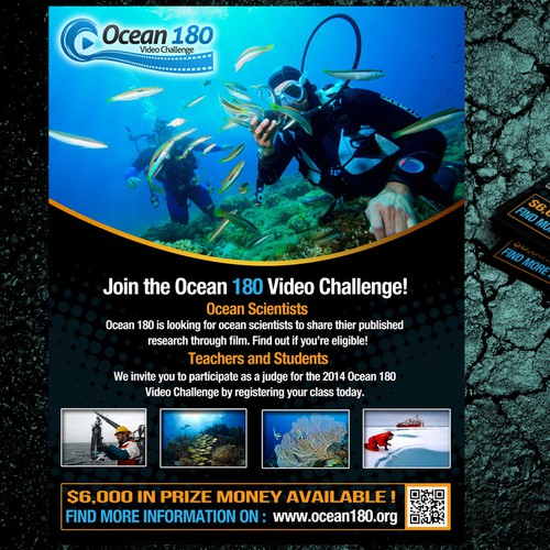 Help! Ocean 180 Need a New Flier for Their National Video Competition!
