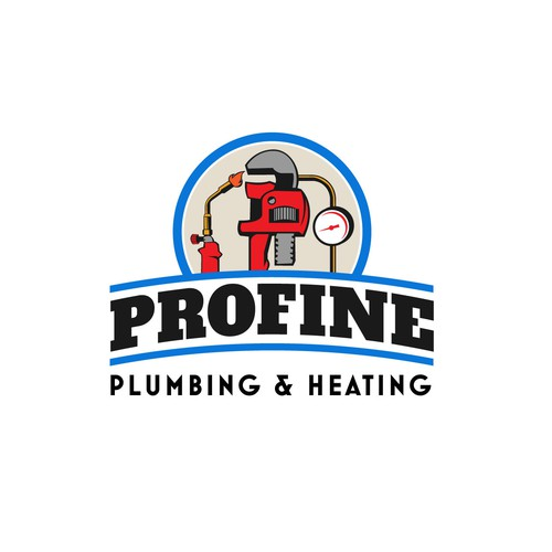 Create a fresh new, eye catching Retro log for Profine Plumbing and Heating
