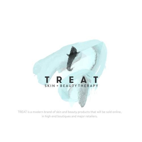 Logo Concept for TREAT, artisan cosmetics