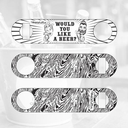 Design for engraving on Barblade/ cap lifter for bartender by Barstuff.de